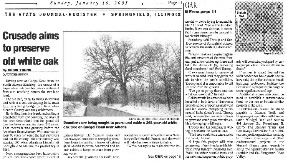 STATE JOURNAL-REGISTER article agout saving The Gudgel Oak