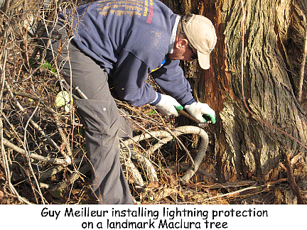 Installing lightening protection